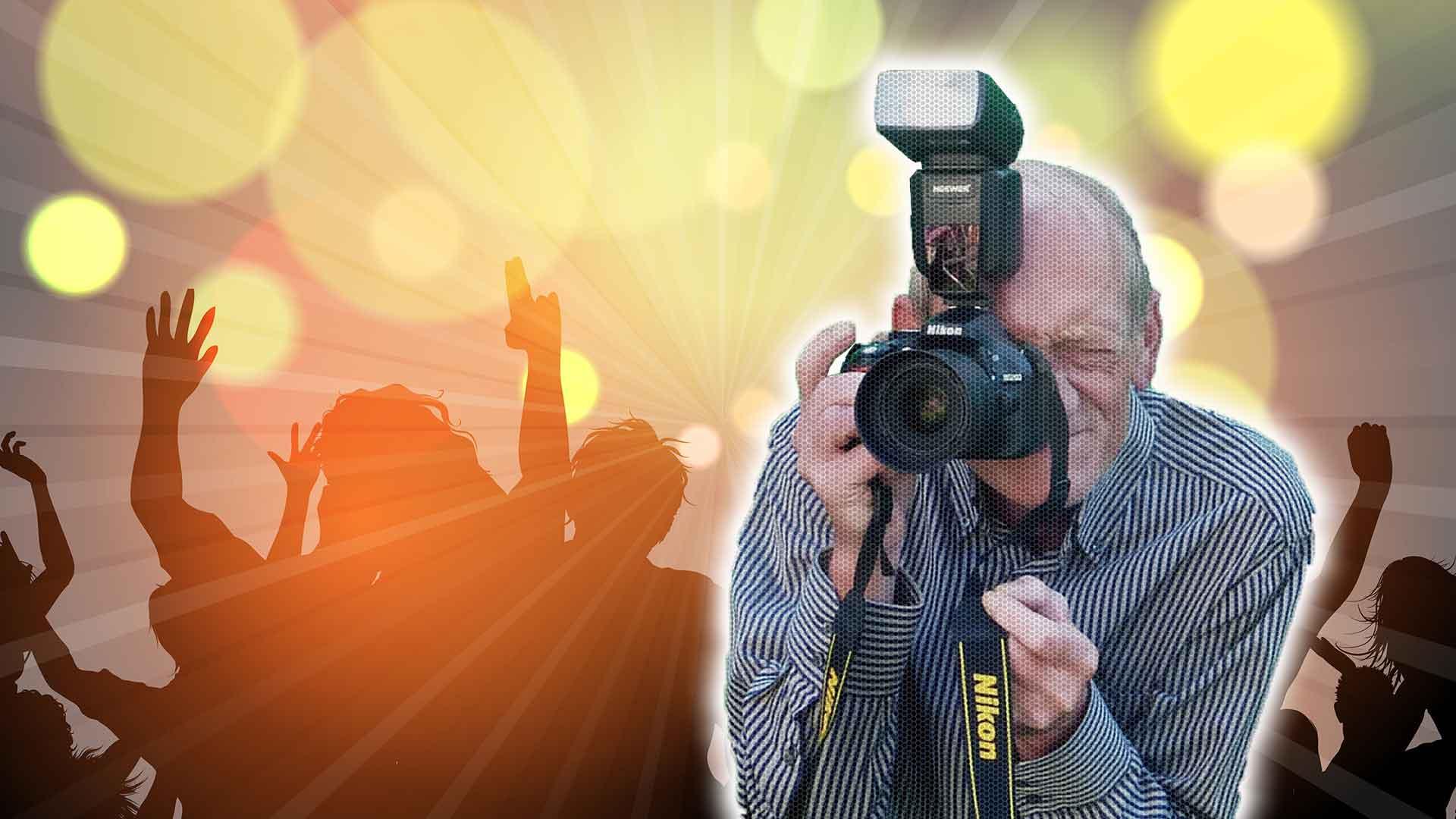 Kamera mit Hintergrund