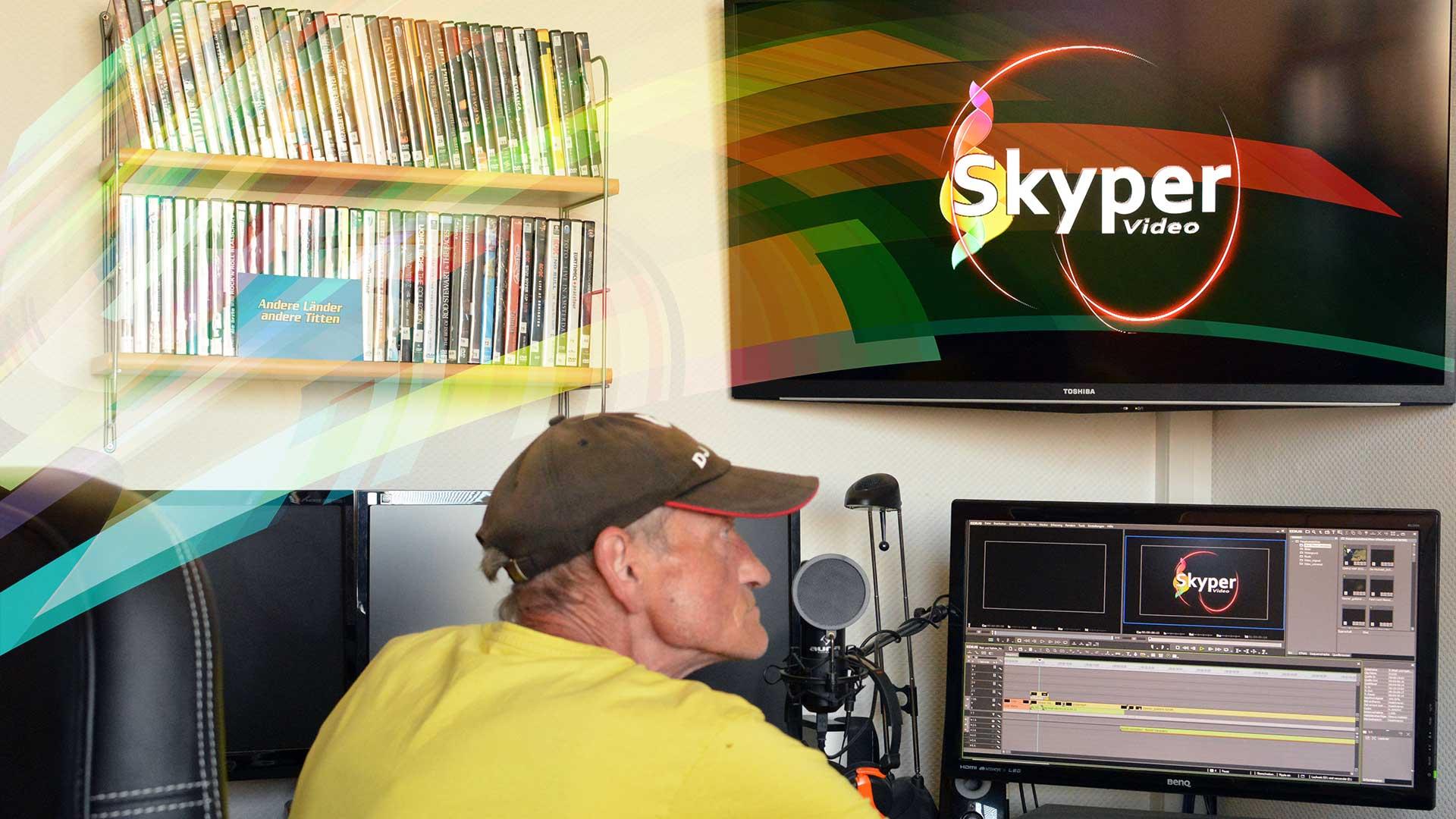 Skyper Video Filmbearbeitung im Büro