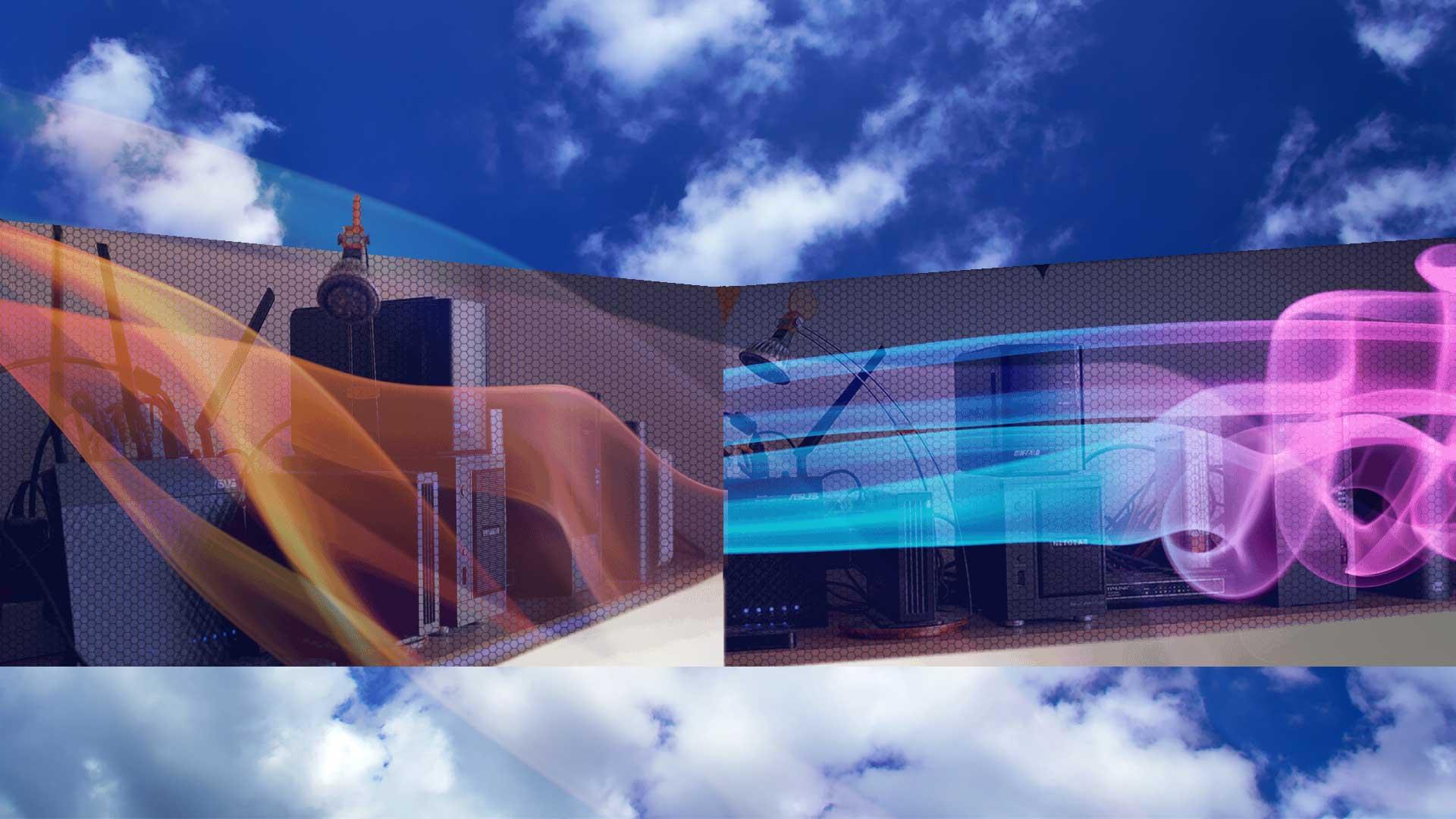 Skyper Video Festplattenmanagement Hintergrund Wolken