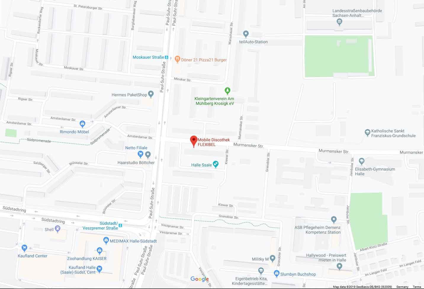 Googlemaps Standort Mobile Discothek Flexibel